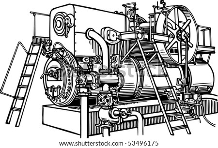 Compressor station - stock vector