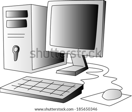 Computer - stock vector
