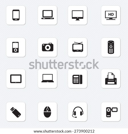 Computer and Mobile Devices icon Vector illustration - stock vector