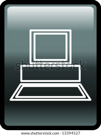 computer button - stock vector