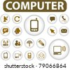 computer buttons, icons, signs, vector illustrations - stock vector