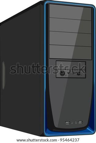 Computer case - stock vector