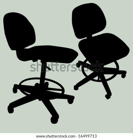 computer chair - stock vector