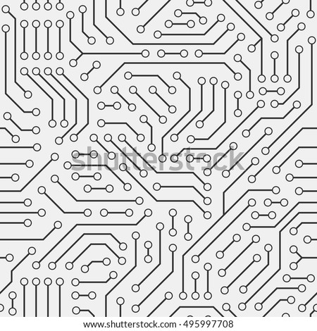 computer circuit board seamless pattern stock vector