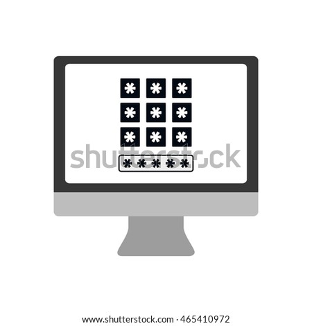 computer code security system protection icon. Isolated and flat illustration. Vector graphic