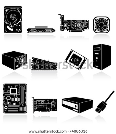computer components - stock vector