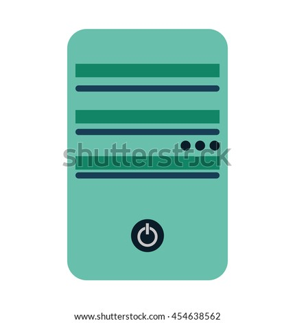 computer cpu server icon vector lated graphic - stock vector