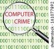 Computer crime concept vector - stock vector