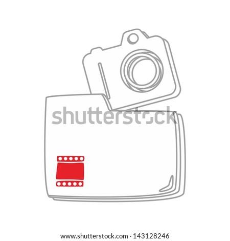 computer desktop element icon my picture - stock vector