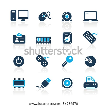 Computer & Devices // Azure Series - stock vector