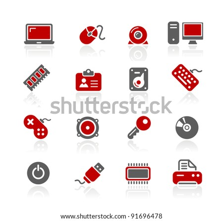 Computer & Devices Icons - stock vector
