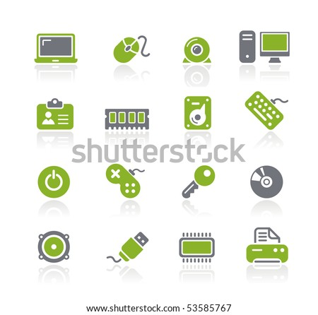 Computer & Devices // Natura Series - stock vector