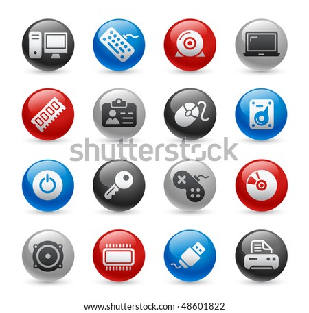 Computer & Devices Web Icons // Gel Pro Series - stock vector