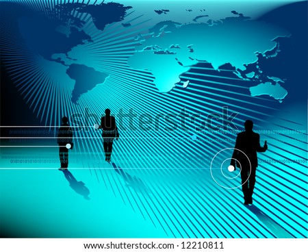 Computer display vector abstract technology background.  Connection, research, business and science concept. - stock vector