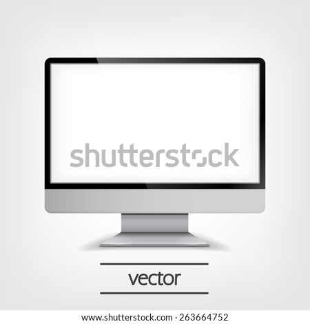 Computer Display, Vector Illustration eps10, Graphic Concept  For Your Design. - stock vector