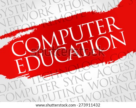 Computer Education word cloud concept - stock vector