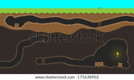 Computer game level - stock vector