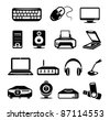 Computer hardware icon - stock vector