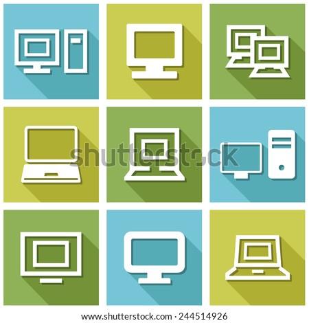Computer icon vector - stock vector