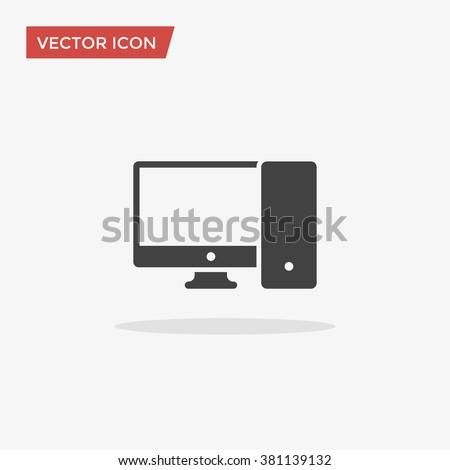 Computer Icon Vector, Computer Icon Image, Computer Icon Picture, Computer Icon Graphic, Computer Icon Art, Computer Icon Drawing, Computer Icon JPG, Computer Icon JPEG, Computer Icon EPS. - stock vector