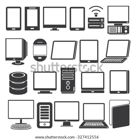 computer icons, smart phone icons, tablet icons
