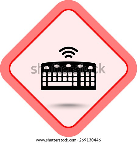 Computer keyboard sign icon, vector illustration. Flat design style  - stock vector