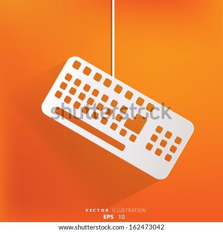 Computer keyboard web icon - stock vector