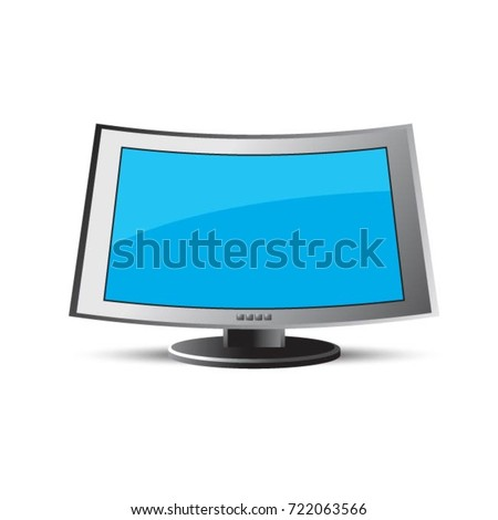 computer lcd or led monitor in color-vector drawing