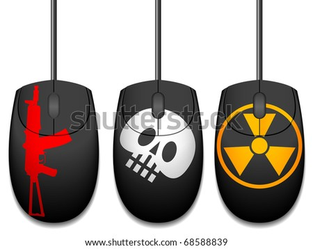 Computer mice with design in a vector - stock vector