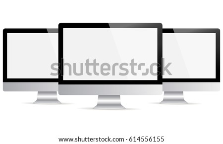 Computer Monitor Apple Imac Mockup Blank Stock Vector 614556155 ...