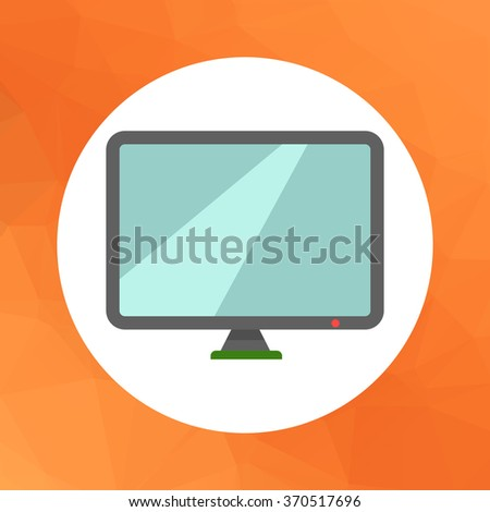 Computer monitor icon - stock vector