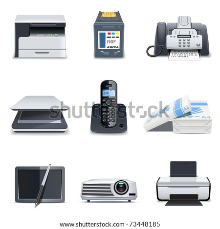 Computer parts 3 | Bella series - stock vector