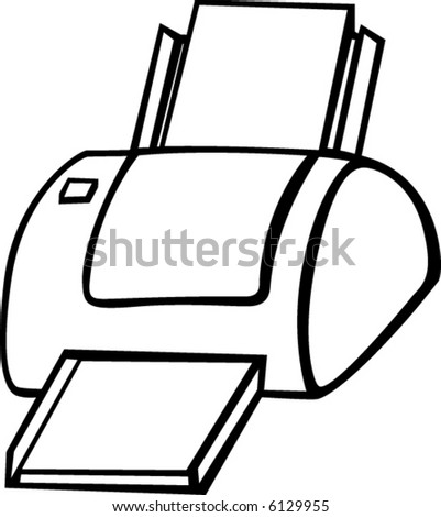 computer printer - stock vector