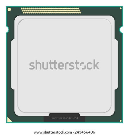 Computer Processor. Vector illustration. - stock vector