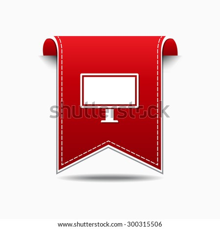 Computer Red Vector Icon Design