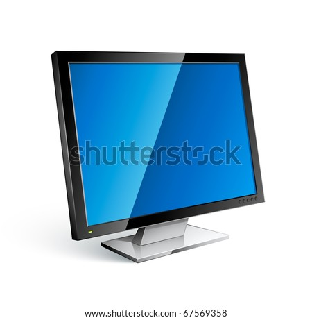computer screen - stock vector
