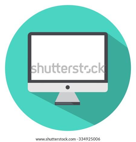 computer screen icon - stock vector