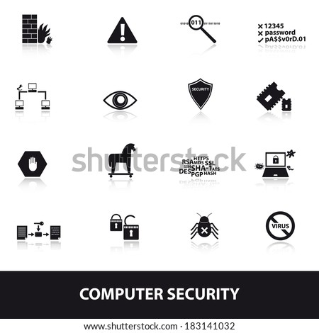computer security icons eps10 - stock vector