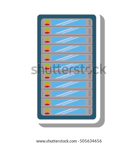 computer server data isolated icon vector illustration design