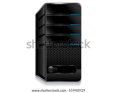 computer server vector - stock vector