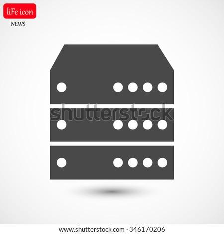 Computer Server. vector icon - stock vector