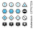 Computer system vector icons - warning, danger, error - stock vector