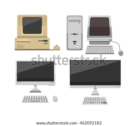 Computer technology vector evolution isolated display