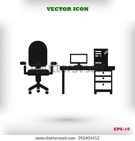 Computer Vector illustration icon - stock vector