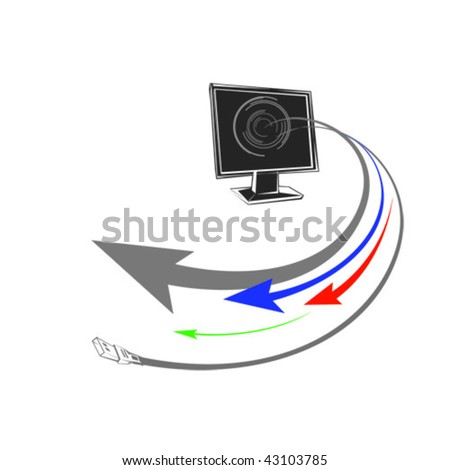 Computer.Vector image - stock vector