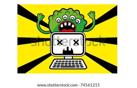 computer virus - stock vector
