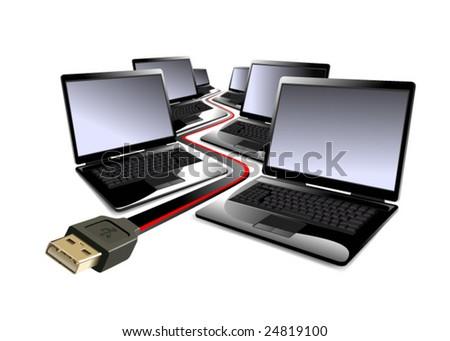Computers - stock vector