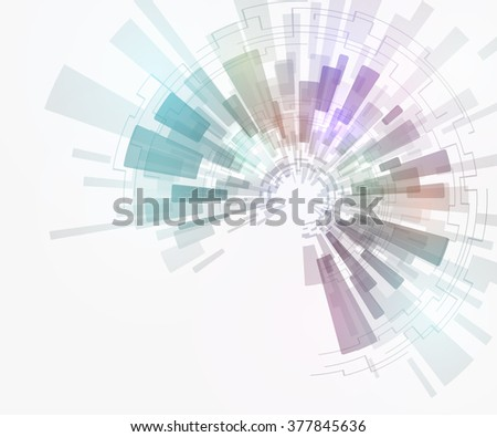 concentration and rotation, abstract image, vector illustration - stock vector