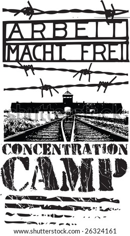 Concentration Camp Design Stock Vector