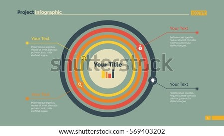 Concentric Circles Diagram Slide Template Stock Vector 569403202